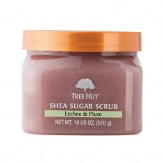 Exfoliant de corp Lychee Plum Tree Hut, 510 g, aroma lychee/pruna
