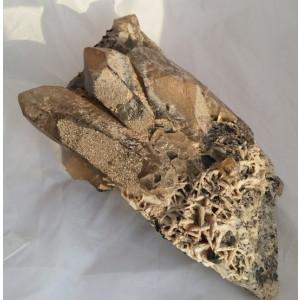 CUART FUMURIU mare - CRISTAL - roca - minerale floare mina