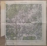 Valenii de Munte/ harta Serviciul Geografic al Armatei 1939