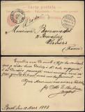 Switzerland 1883 Old postcard postal stationery Basel to Verviers Belgium DB.199