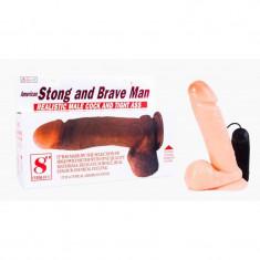 Vibrator Realistic Male Cock Flesh