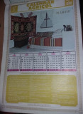 Calendar vechi de perete Ceausist,calendar AGRICOL,1986-1990,Ziar INAINTE Braila