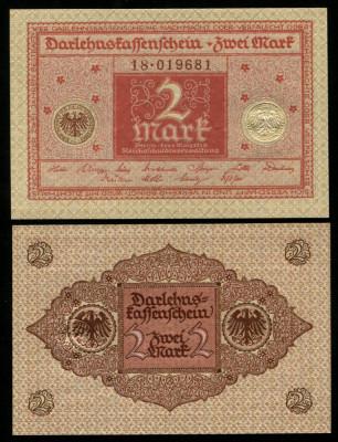 y079 GERMANIA 2 MARCI MARK 1920 UNC foto