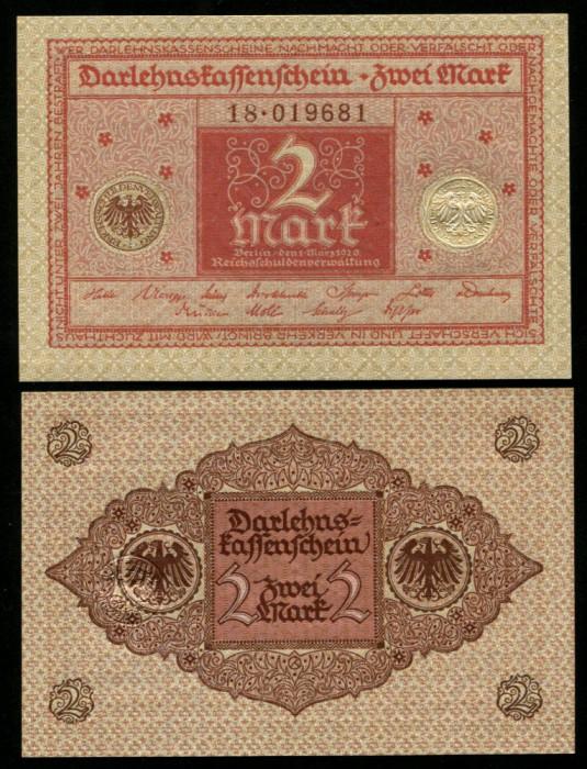 y079 GERMANIA 2 MARCI MARK 1920 UNC