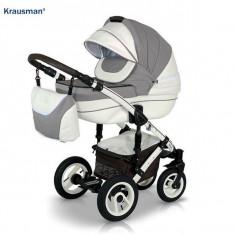 Krausman - Carucior 3 in 1 Sendo White-Light Brown