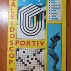 caleidoscop sportiv iulie 1981- revista total necompletata ( rebus,umor,enigme )