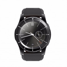 Ceas Smartwatch Techstar® DT No.1 G8, MTK2502, Bluetooth 4.0, SIM, Notificari, Monitorizare Puls, Culoare Negru
