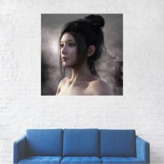 Tablou Canvas, Portret asiatic - 20 x 20 cm