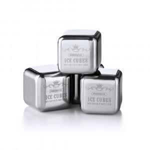 Cuburi Gheata Metalice Din Otel Inoxidabil Remax ,pachet De 8 Cuburi Gheata Metalice