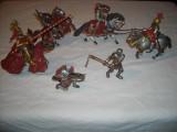 Schleich - lot 6 cavaleri rosii florii de crin - Red Knights - Fleur de Lis, Unisex