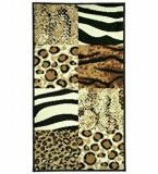 Covor Decorino Animal Print C02-020175, Maro, 160x230 cm