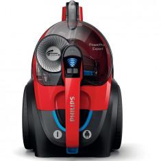 Aspirator fara sac PowerPro Expert FC9729/09, 650 W, 2 l, TriActive, filtru antialergic, clasa A, rosu, Philips