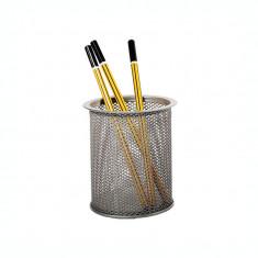 Suport pentru instrumente de scris metalic mesh Forpus 30551 silver