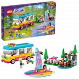LEGO Friends Rulota de Camping si Barca 41681