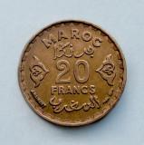 MAROC - 20 Francs 1952, Africa, Bronz-Aluminiu