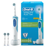 Perie dinti electrică Oral-B D12.523 Vitality Plus, 1+1 capat Cross Action