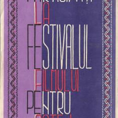Afis romanesc comunist Festivalul filmului pentru sate anii 1960