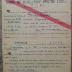 Ordin de mobilizare pentru lucru/ 1942-43