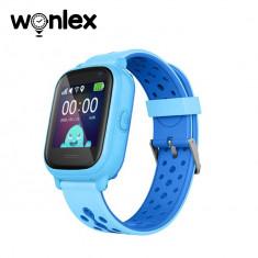 Ceas Smartwatch Pentru Copii Wonlex KT04 cu Functie Telefon, GPS, Camera, IP54 - Albastru, Cartela SIM Cadou