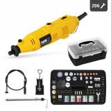 Cumpara ieftin Mini freza electrica 135W 220V 206 piese MULTI-GRIN135.3 MSW 10060242