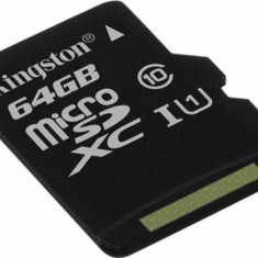 Card de Memorie Kingston microSDXC 64GB Clasa 10 45mbps