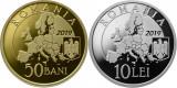 Moneda Romania 50 Bani si 10 Lei 2019 - Proof ( Președinția Consiliului UE )