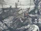 Recolta pescarilor, gravura 1959