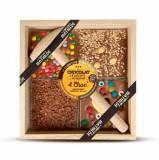 Ciocolata in cutie de lemn cu lapte asortiment | Comptoir de Mathilde