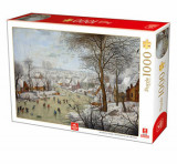 Cumpara ieftin Puzzle Pieter Brueghel the Youngher - Winter Landscape with Skates and Birds Trap, 1000 piese