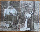 4 carti postale interbelice , costume populare romanesti , 2