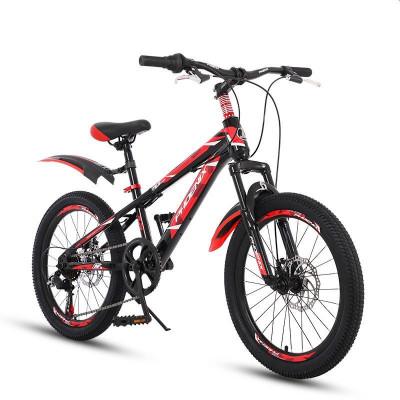 Bicicleta MTB 22 inch, cadru otel, jante aluminiu, schimbator Shimano, 7 viteze, frane pe disc, rosie foto