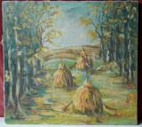 Peisaj rustic - pictura in ulei pe panza