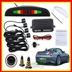 Senzori de parcare LED, 4 senzori,Afisaj Display Avertizare Sonora Parking