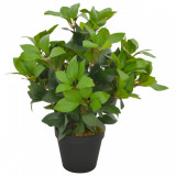 Plantă artificială dafin cu ghiveci, verde, 40 cm, vidaXL