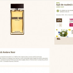 Apa de toaleta AMBRE NOIRE Yves Rocher 100 ml, Apa de parfum