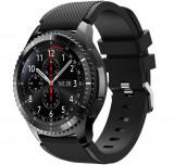 Curea ceas Smartwatch Samsung Gear S3, iUni 22 mm Silicon Black