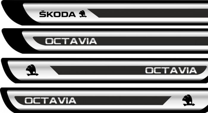 Set protectii praguri CROM - Skoda Octavia