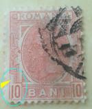 Cumpara ieftin VARIETATE EROARE CAROL I, ROMANIA 1900, 10 BANI SPIC DE GRAU, CHENAR spart stg., Stampilat