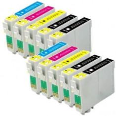 Set 10 cartuse compatibile Epson T0611 T0612 T0613 T0614