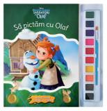 Disney. Regatul de gheață. Sărbători cu Olaf. Să pictăm cu Olaf. Carte de colorat cu pensulă și acuarele