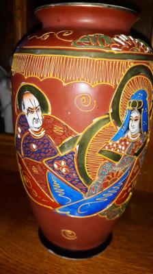 Vaza din portelan Japonez Satsuma foto