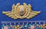 Insigna Militara Ofiter AVIATIE PILOT - CAPITAN - Coifura insemn cascheta 1970