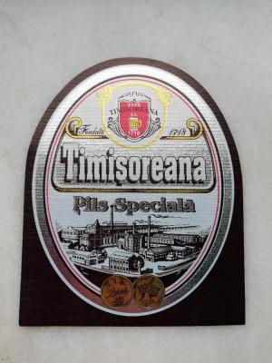 Eticheta bere - TIMISOREANA Pils Speciala . foto