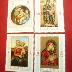 Serie 1968 Dominica - Craciun - Pictura , 4 valori