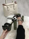 Sandale dama cu toc si platforma marime 35, 36, 37+CADOU