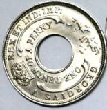 P1. BRITISH WEST AFRICA 1/10 PENNY 1931 aUNC / UNC **