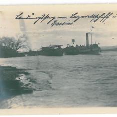 4591 - BAZIAS, Caras-Severin, ships Danube - old PC, real PHOTO 12/9 cm - unused, Necirculata, Fotografie