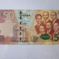 Rară! Ghana 50 Cedis 2015