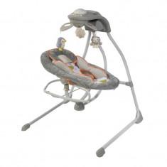 Leagan electric 91,5 x 101 x 117,5 cm pentru bebelusi BabyMix BY-028G, Gri