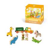 Set de joaca din lemn, Mini povesti Janod, Safari